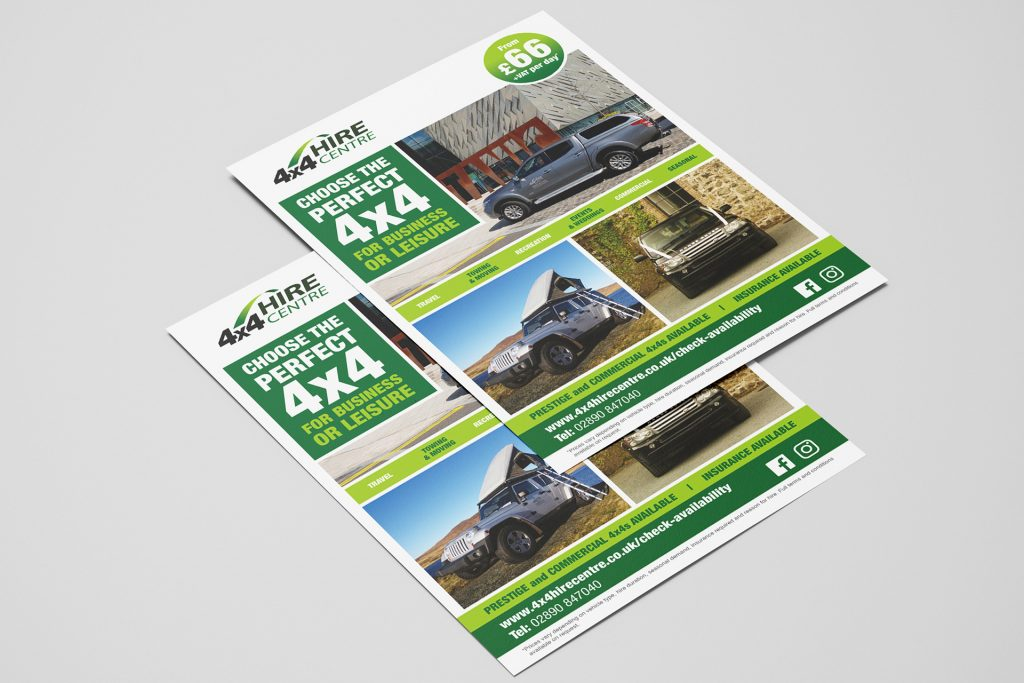 4x4 Hire Centre Flyer