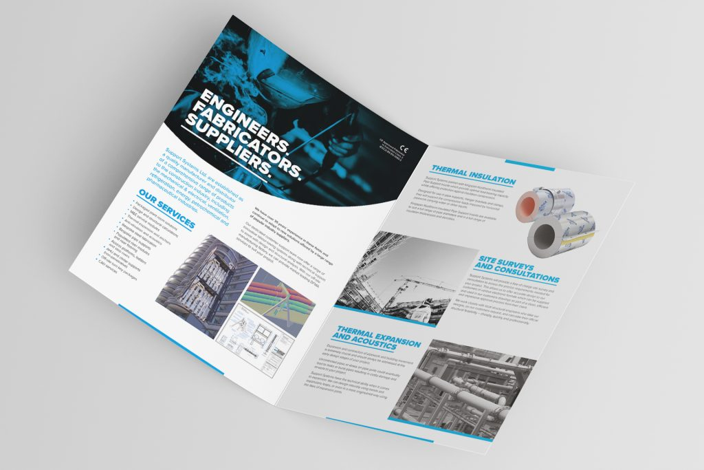 ssn folded brochure design nottingham 3 1 Freelance Graphic Designer Nottingham Derby Leicester
