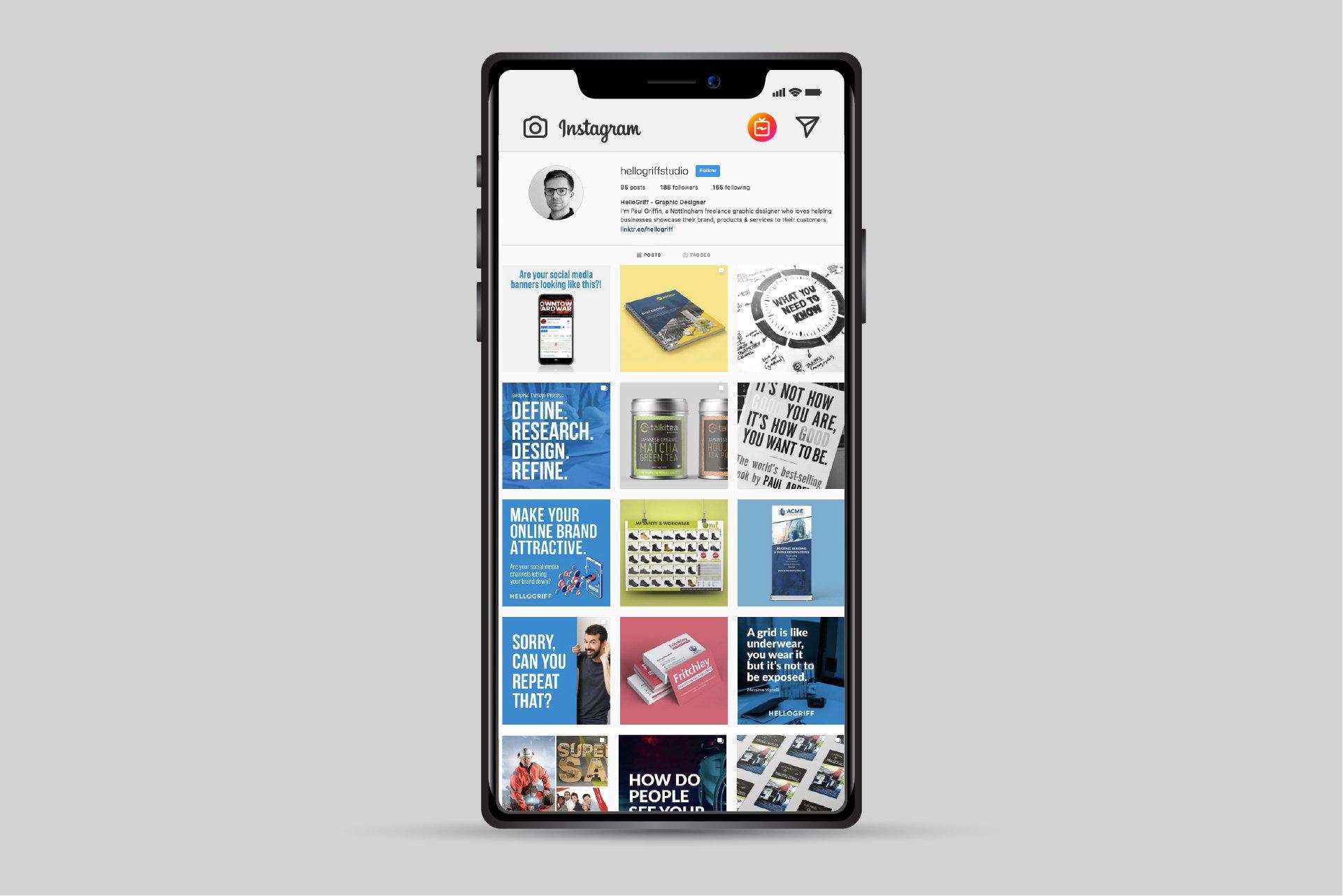 hellogriff social media designer Freelance Graphic Designer Nottingham Derby Leicester