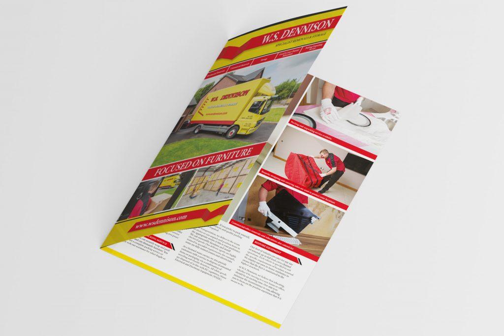 ws dennison folded brochure design